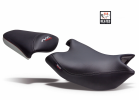 Comfort seat SHAD SHH0N710CH heated black/grey, red seams