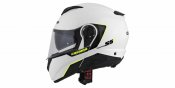 Full face helmet CASSIDA COMPRESS 2.0 REFRACTION white / black / yellow fluo XS